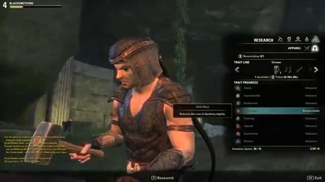 The Elder Scrolls Online Время на исследование трейтов!