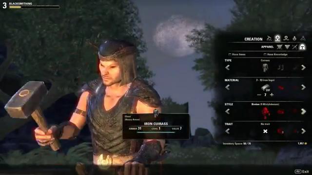 The Elder Scrolls Online Обзор ремесел часть 1 (Видео)
