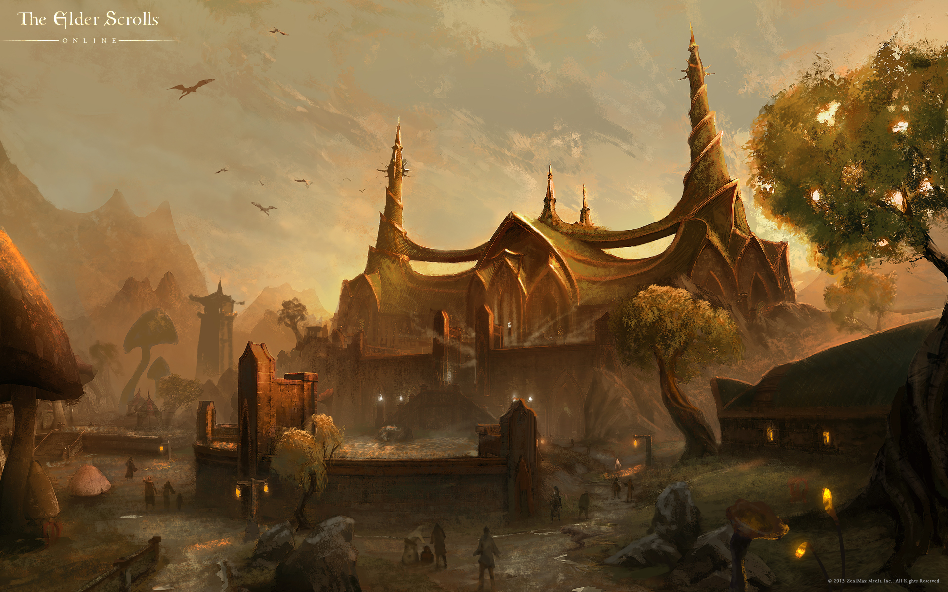 Wallpaper The Elder Scrolls Online: The Tribunal Temple in Mournhold