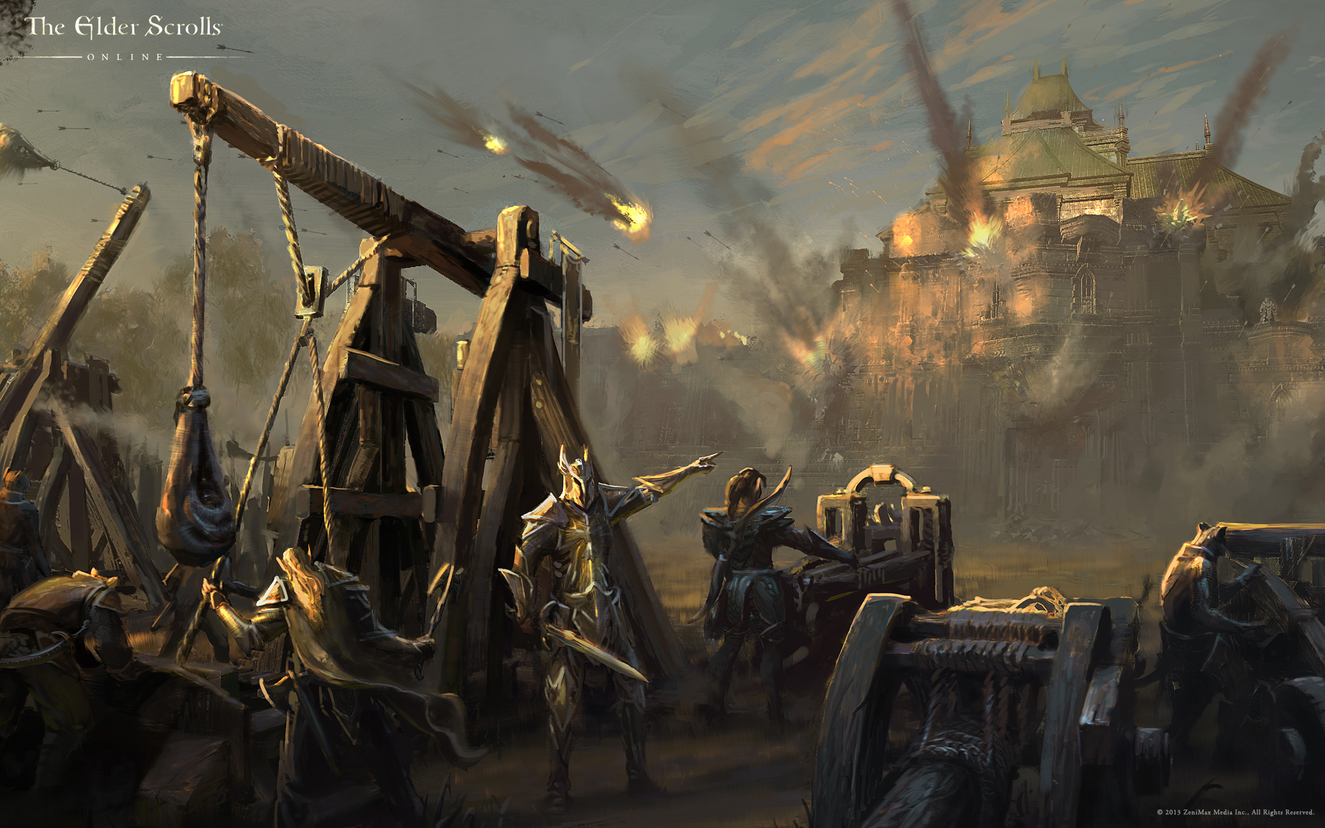 Wallpaper The Elder Scrolls Online: Cyrodiil Under Siege