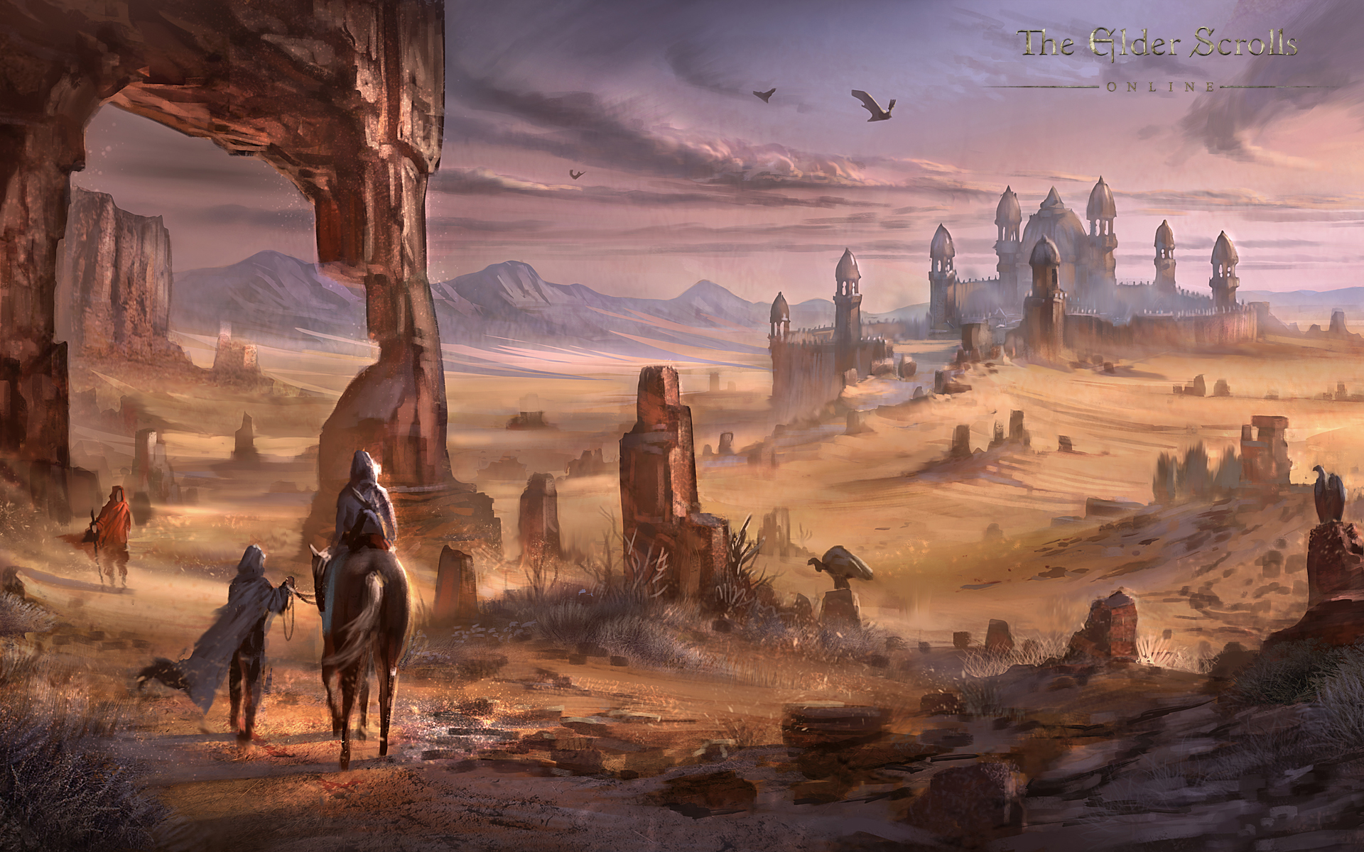 Wallpaper The Elder Scrolls Online: Alik'r Desert