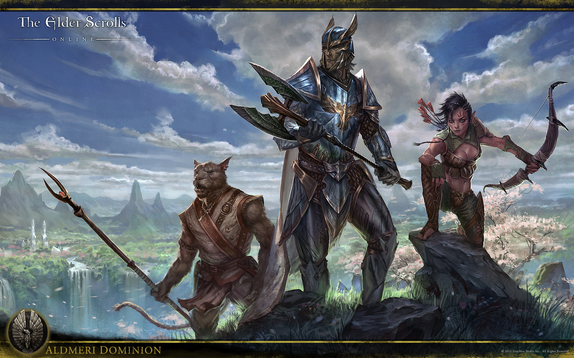 Wallpaper The Elder Scrolls Online: Aldmeri Dominion