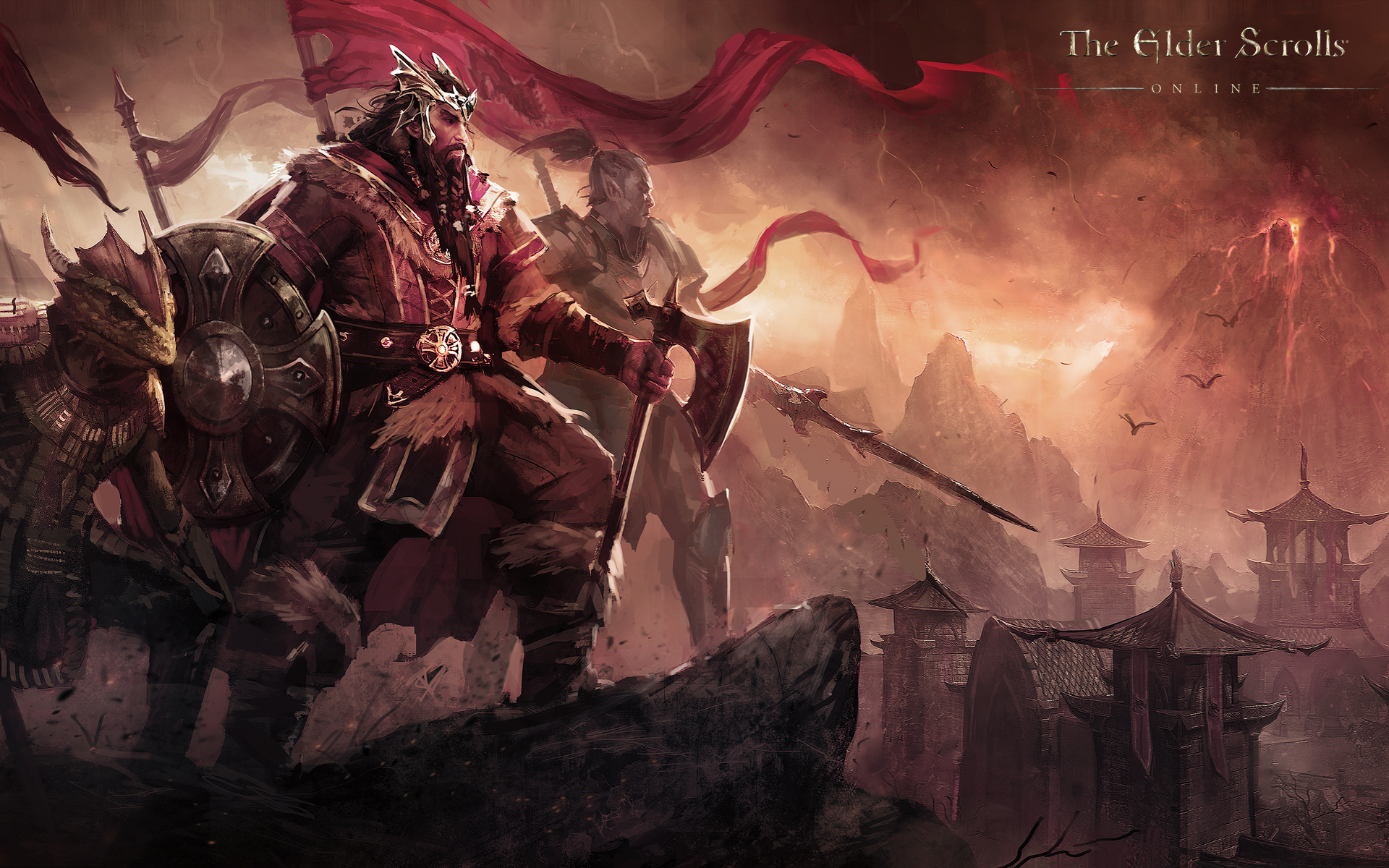 Wallpaper The Elder Scrolls Online: Nord king Jorunn