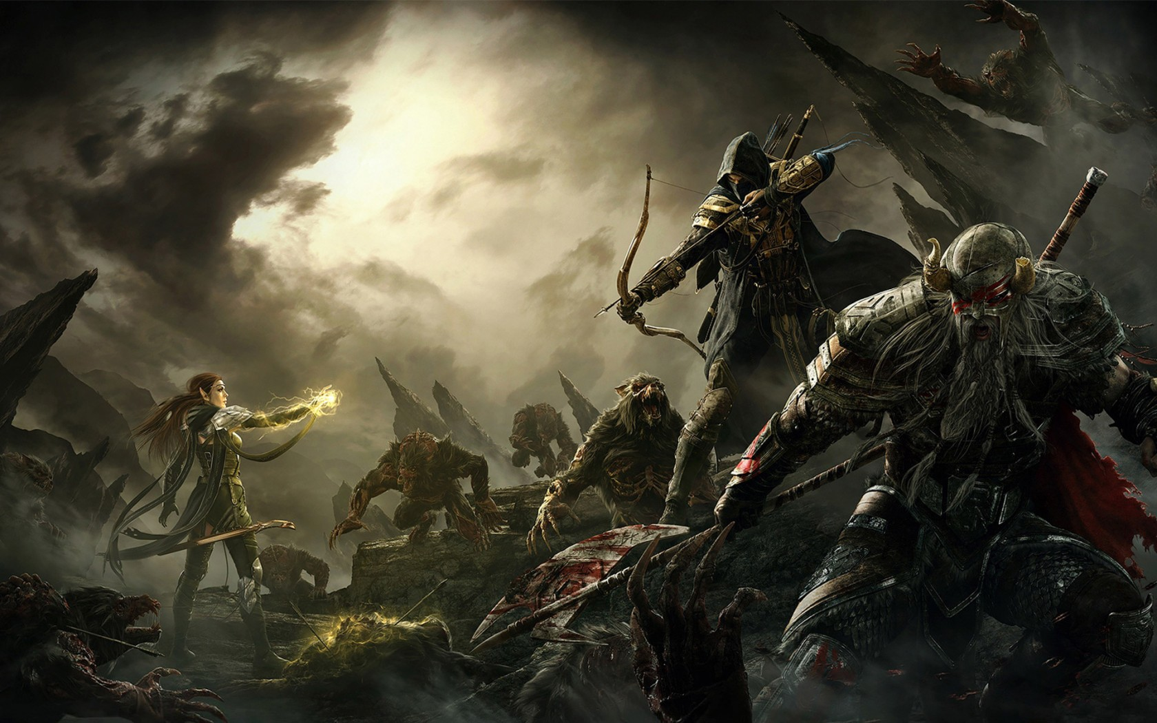 Wallpaper The Elder Scrolls Online: Battle