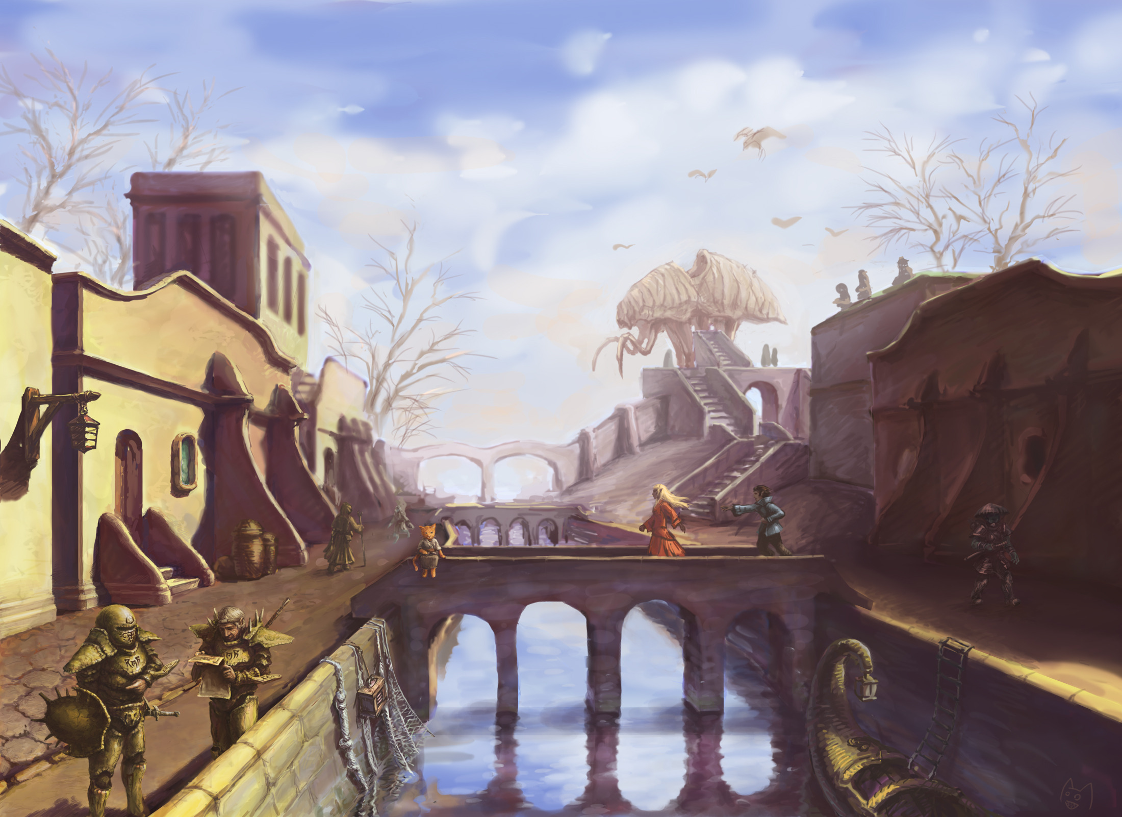 "Wallpaper The Elder Scrolls III: Morrowind ""Bridge"""