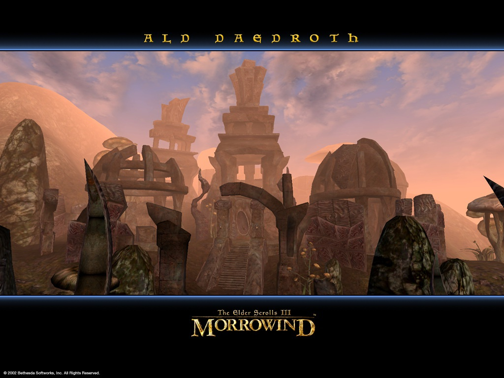 "Wallpaper The Elder Scrolls III: Morrowind ""Ald Daedroth"""
