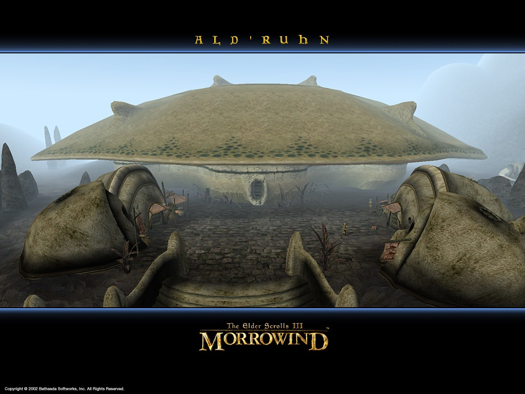 "Wallpaper The Elder Scrolls III: Morrowind ""Ald Ruhn"""
