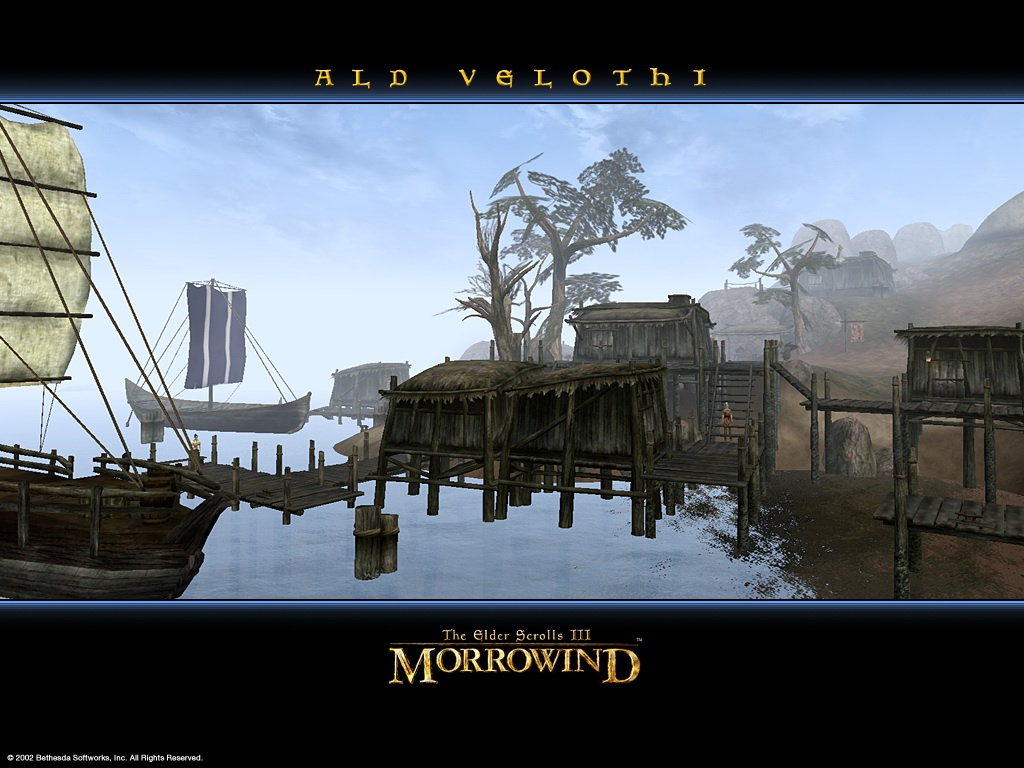 "Wallpaper The Elder Scrolls III: Morrowind ""Ald Velothi"""