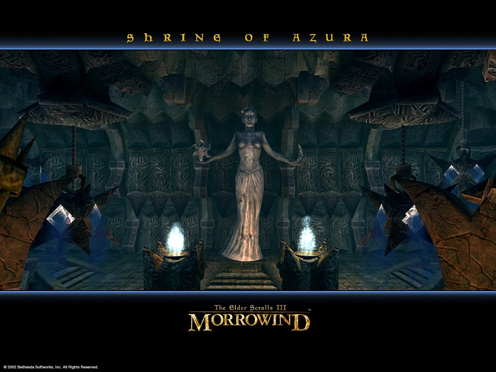 "Wallpaper The Elder Scrolls III: Morrowind ""Shrine of Azura"""