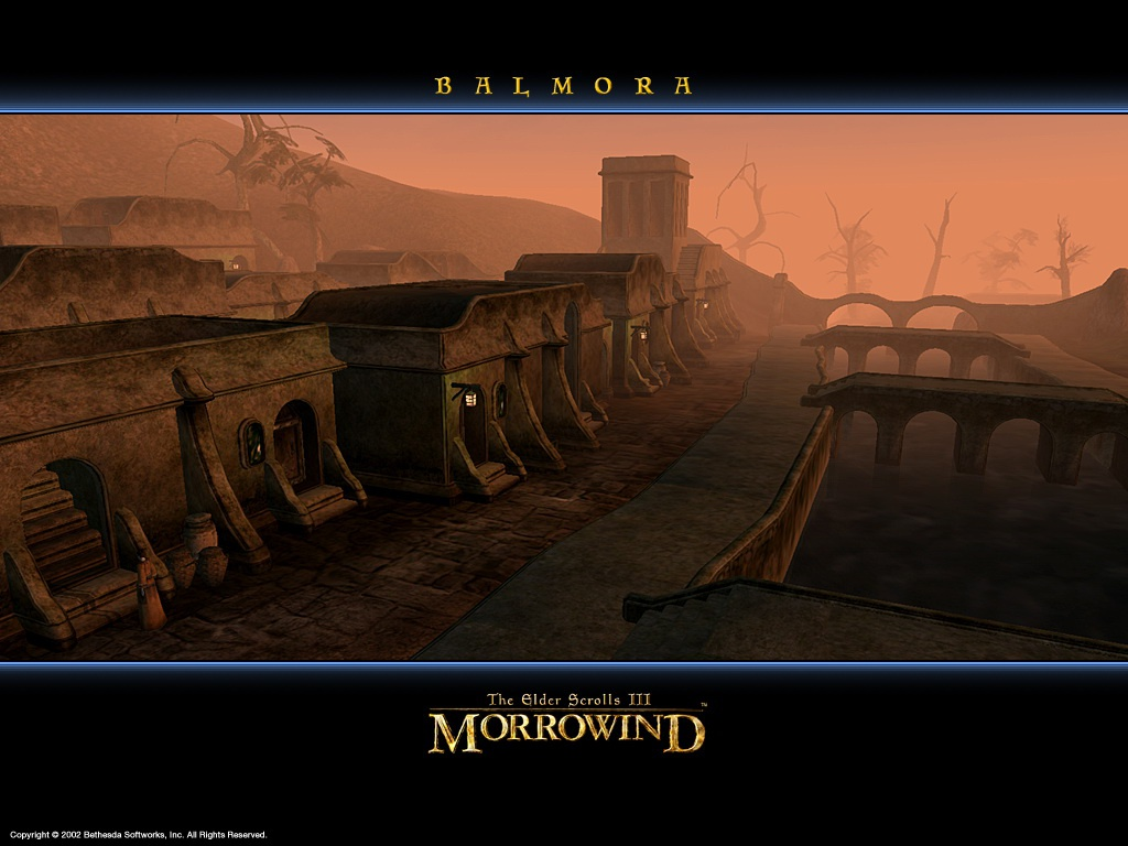 "Wallpaper The Elder Scrolls III: Morrowind ""Balmora"""