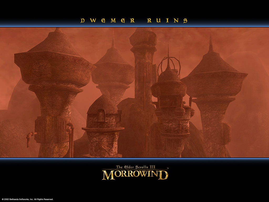"Wallpaper The Elder Scrolls III: Morrowind ""Dwemer ruins"""