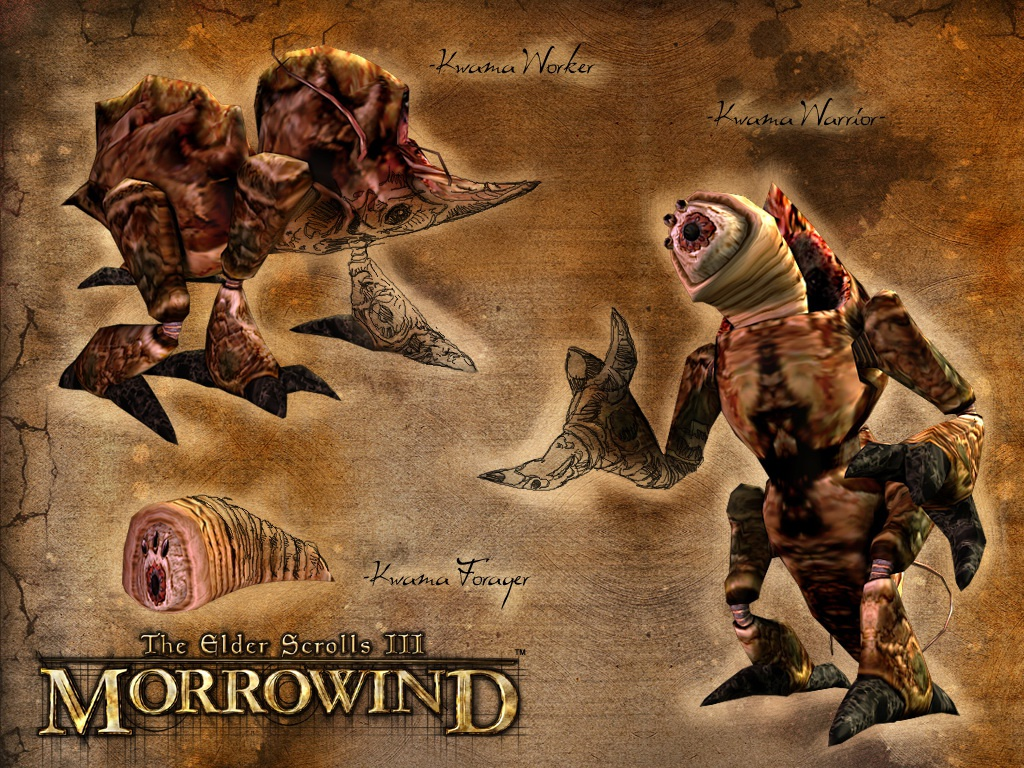 "Wallpaper The Elder Scrolls III: Morrowind ""Kwama"""