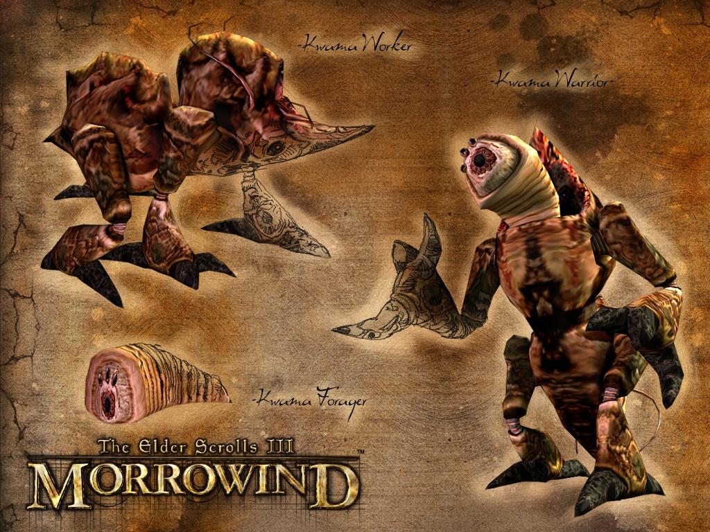 """Wallpaper The Elder Scrolls III: Morrowind """"Kwama"""""""