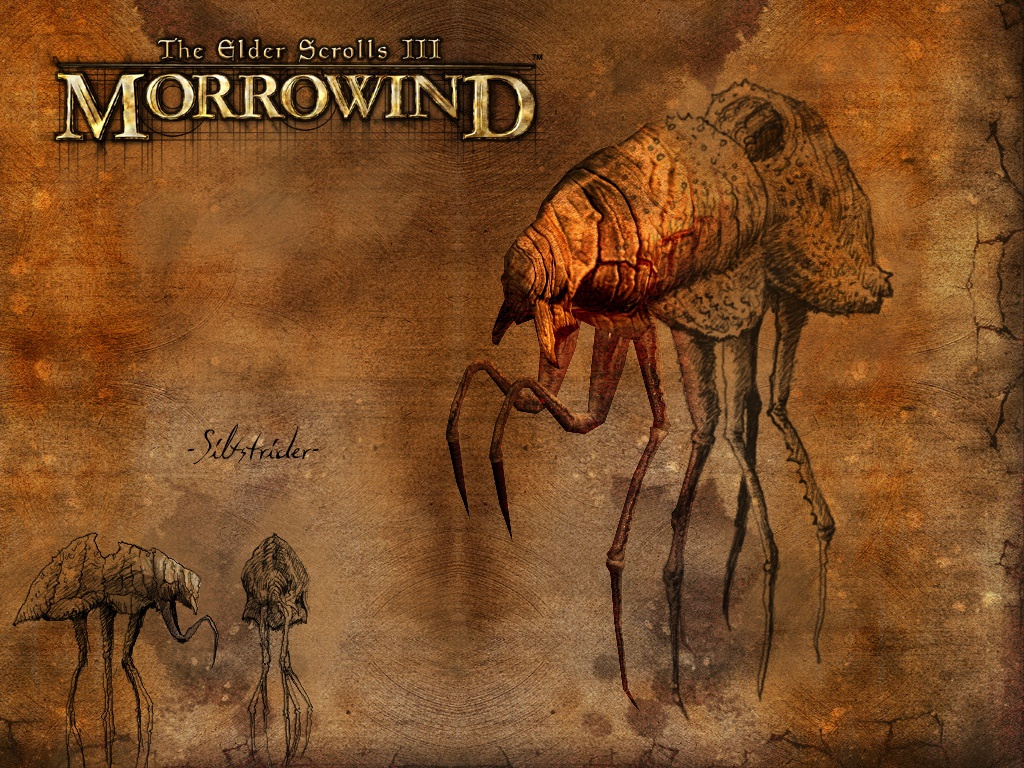 "Wallpaper The Elder Scrolls III: Morrowind ""Siltstrider"""