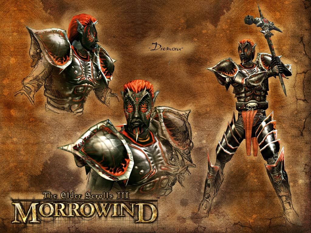"Wallpaper The Elder Scrolls III: Morrowind ""Dremora"""