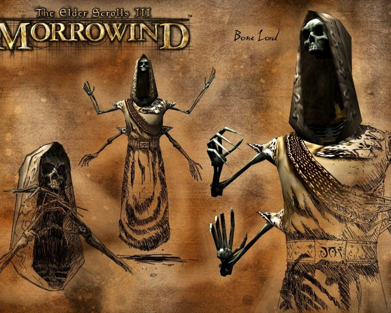 "Wallpaper The Elder Scrolls III: Morrowind ""Bone Lord"""