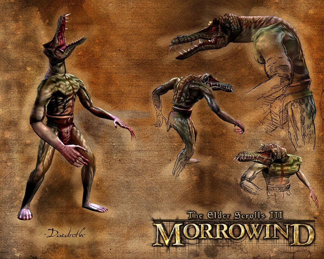 "Wallpaper The Elder Scrolls III: Morrowind ""Daedroth"""