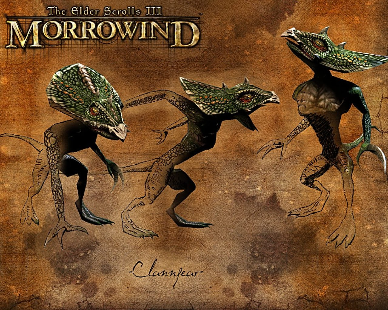 "Wallpaper The Elder Scrolls III: Morrowind ""Clannfear"""