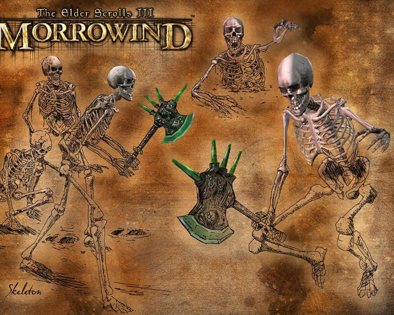"Wallpaper The Elder Scrolls III: Morrowind ""Skeleton"""