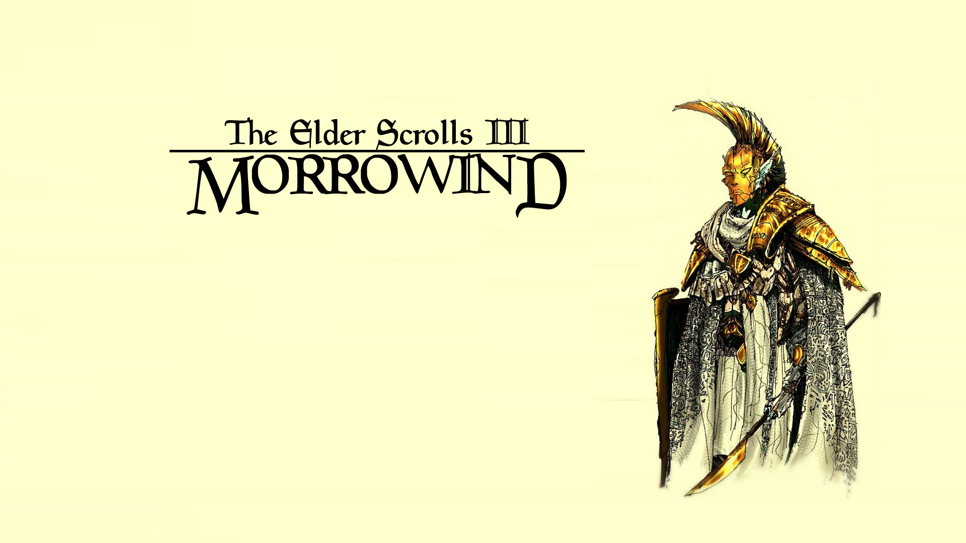 "Wallpaper The Elder Scrolls III: Morrowind ""Escort"""