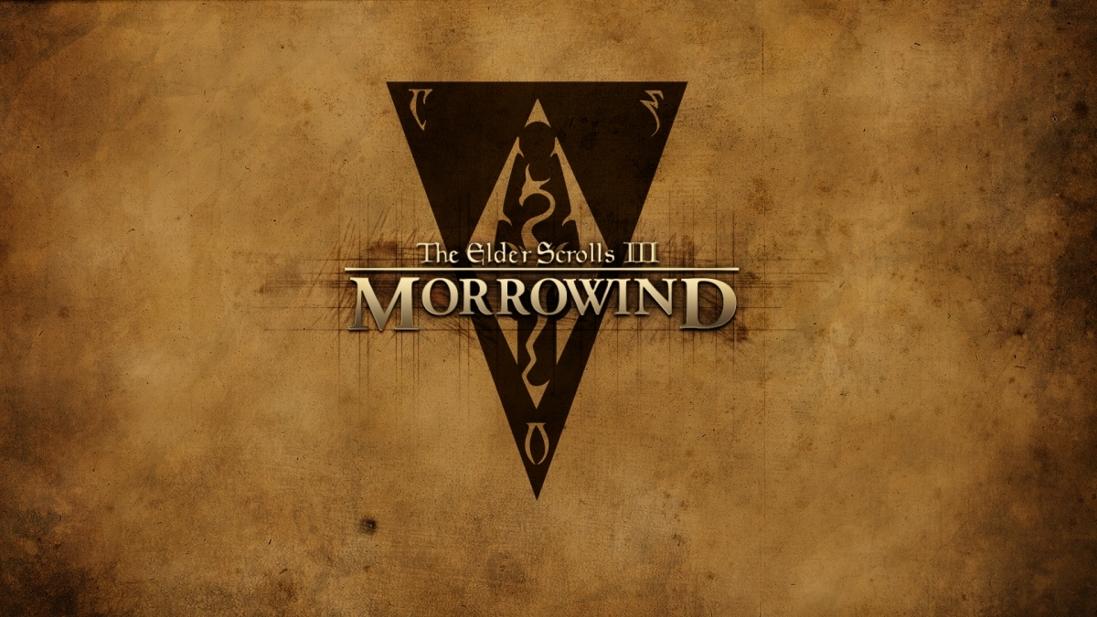 "Wallpaper The Elder Scrolls III: Morrowind ""logo"""