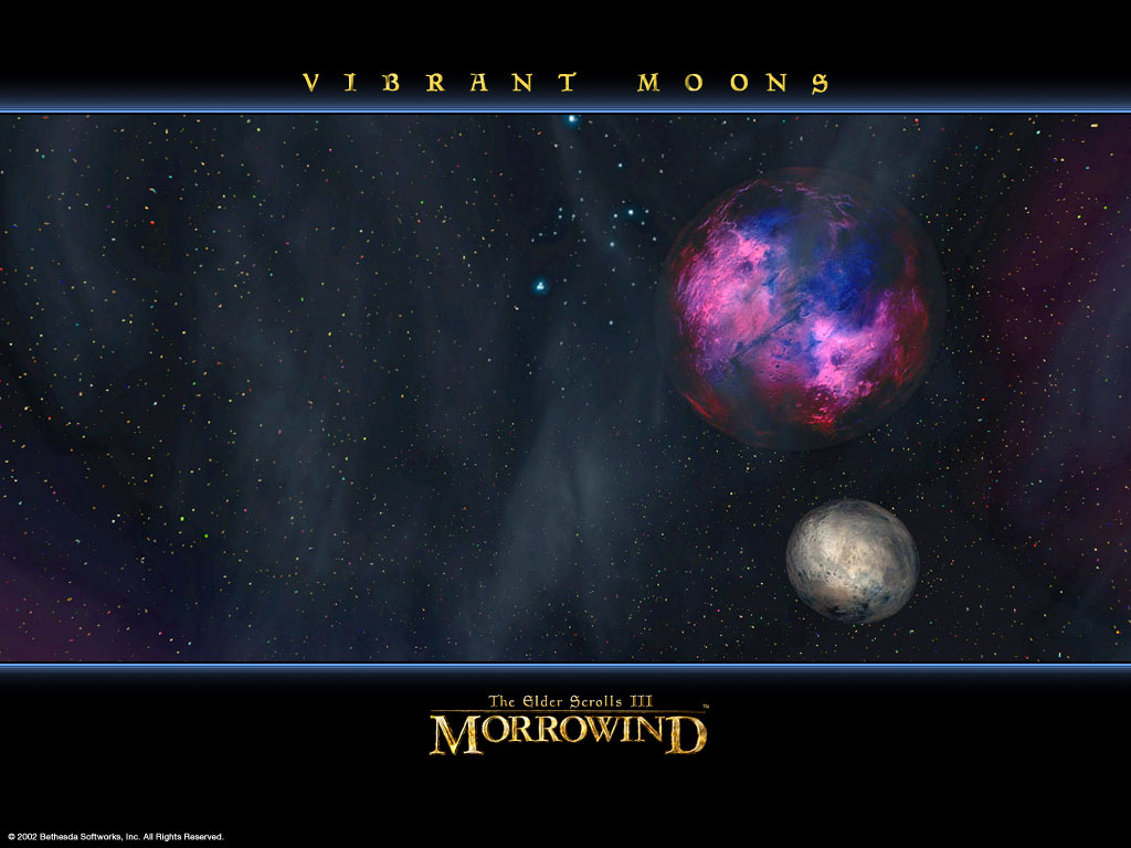 "Wallpaper The Elder Scrolls III: Morrowind ""Vibrant Moons"""