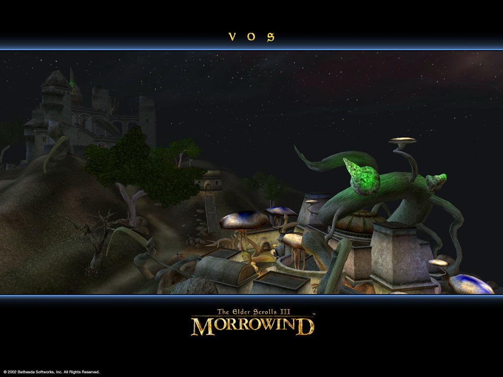 "Wallpaper The Elder Scrolls III: Morrowind ""Vos city"""