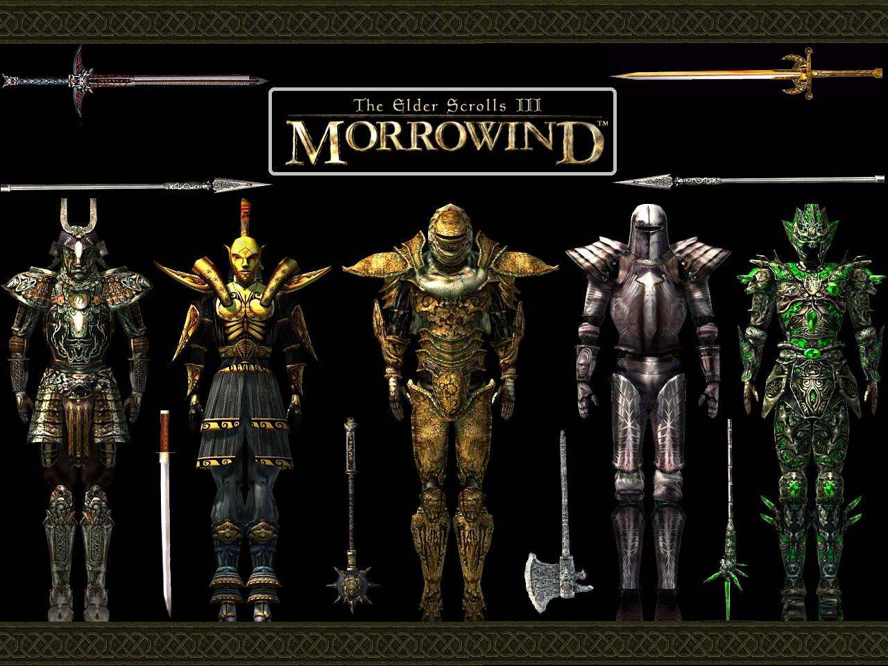 "Wallpaper The Elder Scrolls III: Morrowind ""Armor"""