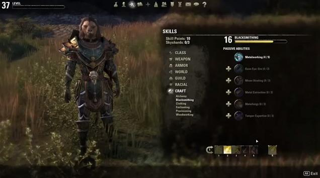 The Elder Scrolls Online Developer Play Session Blacksmithing in Tamriel