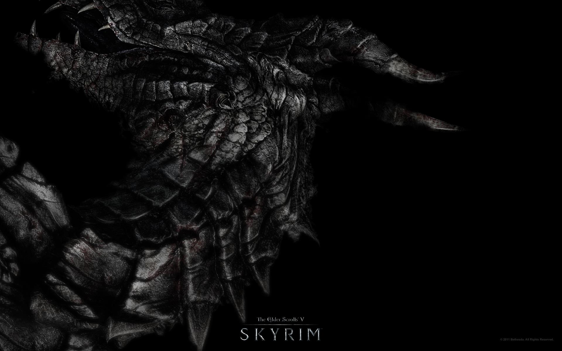 The Elder Scrolls V: Skyrim wallpaper dragon head