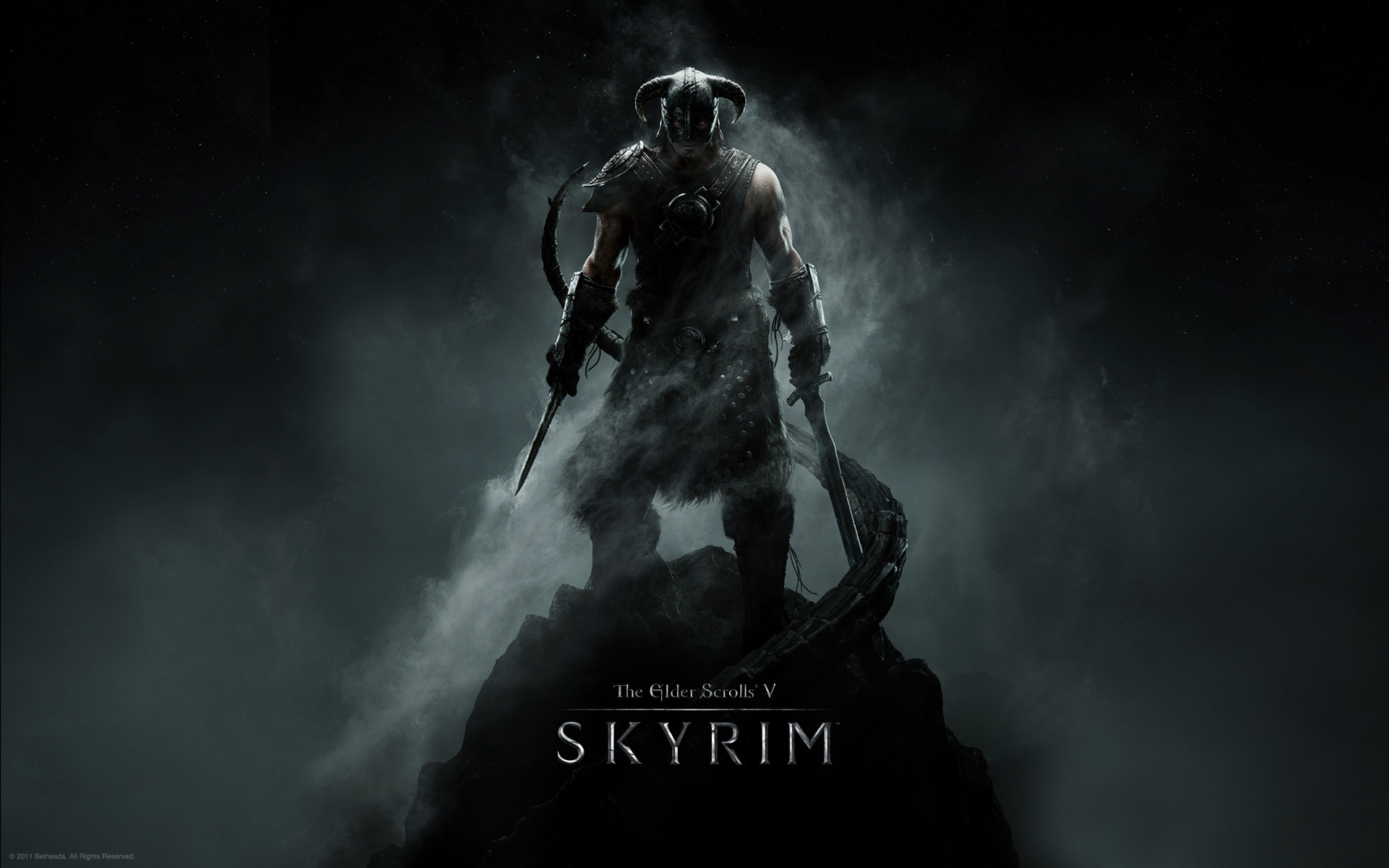 The Elder Scrolls V: Skyrim wallpaper Warrior in the Mist