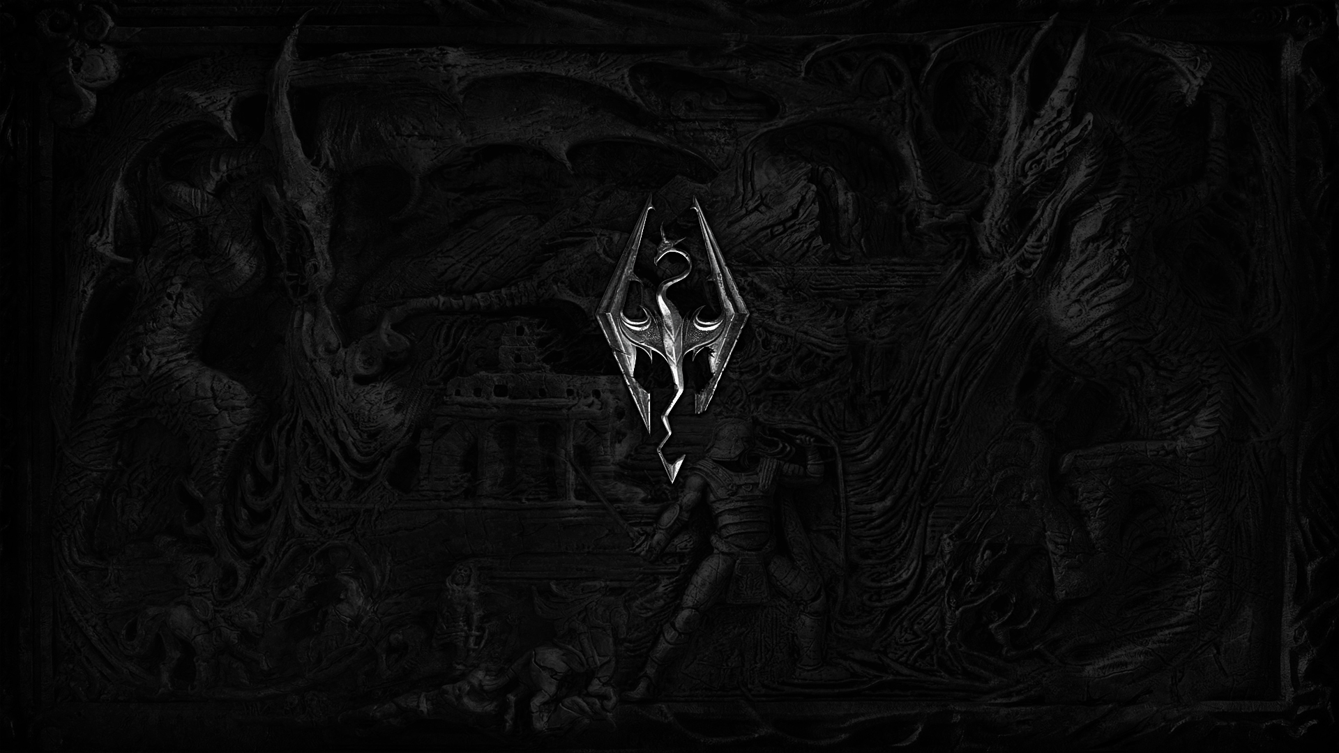 The Elder Scrolls V: Skyrim wallpaper engraving