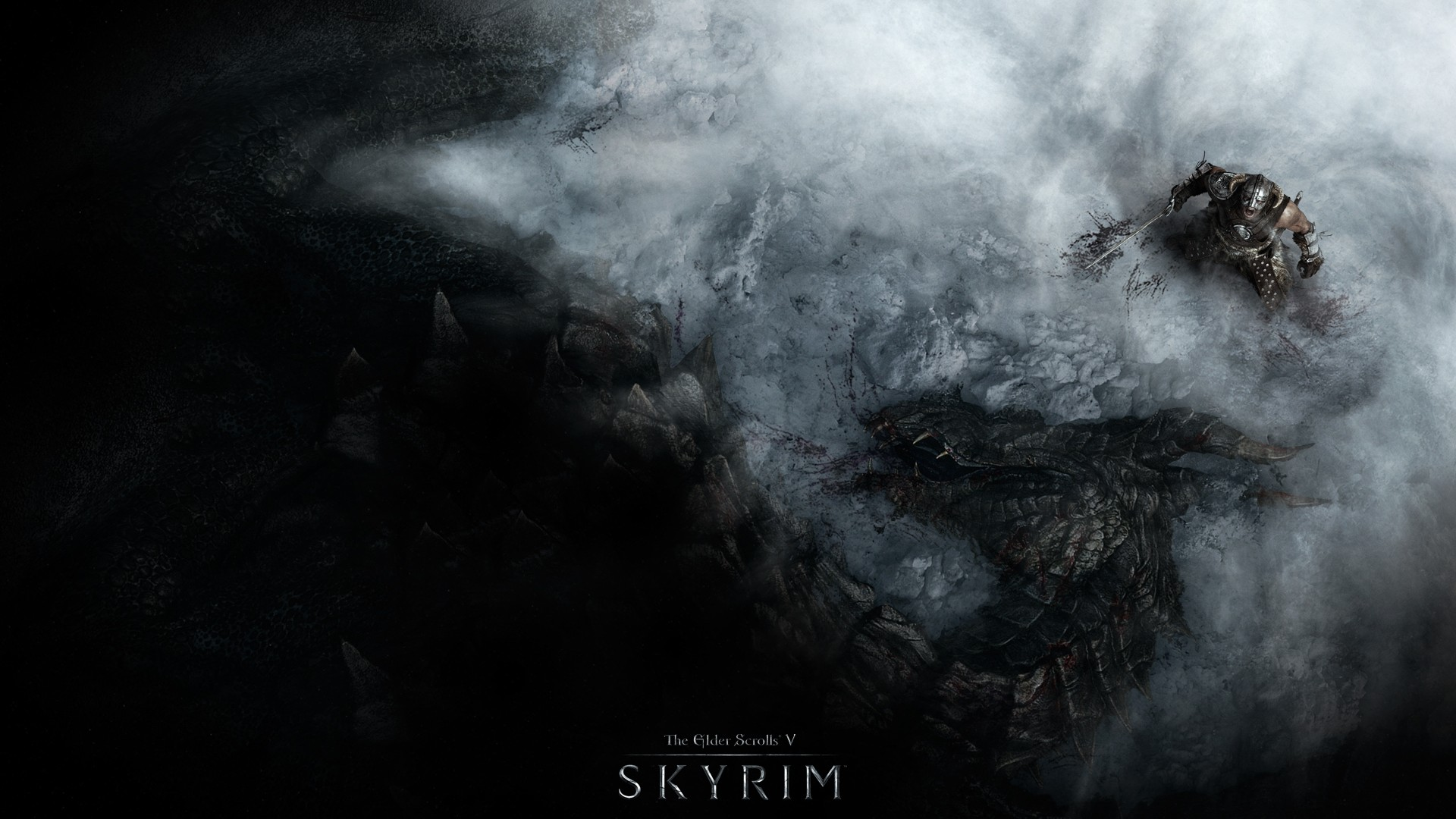 The Elder Scrolls V: Skyrim wallpaper top view