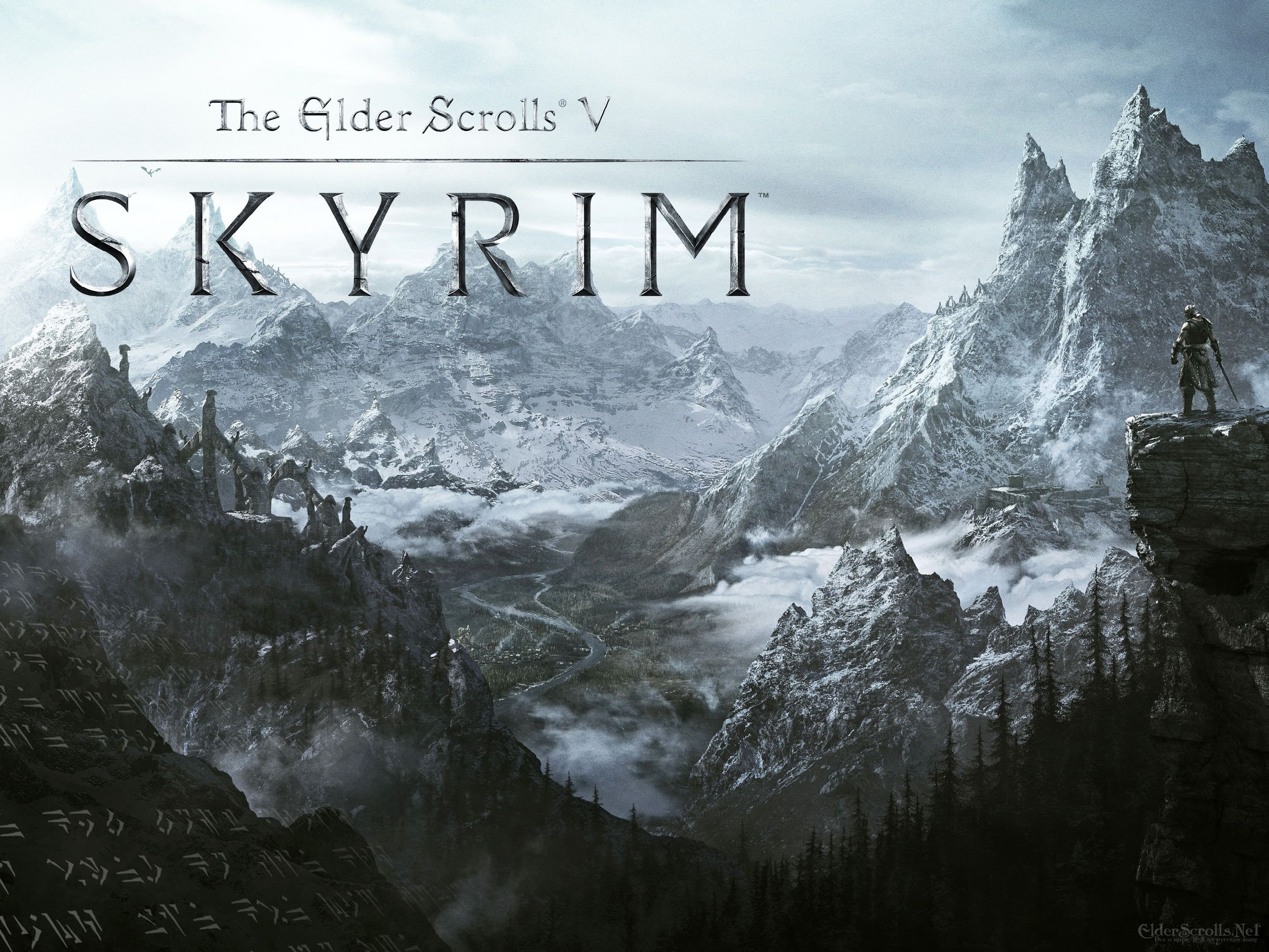 The Elder Scrolls V: Skyrim wallpaper mountains