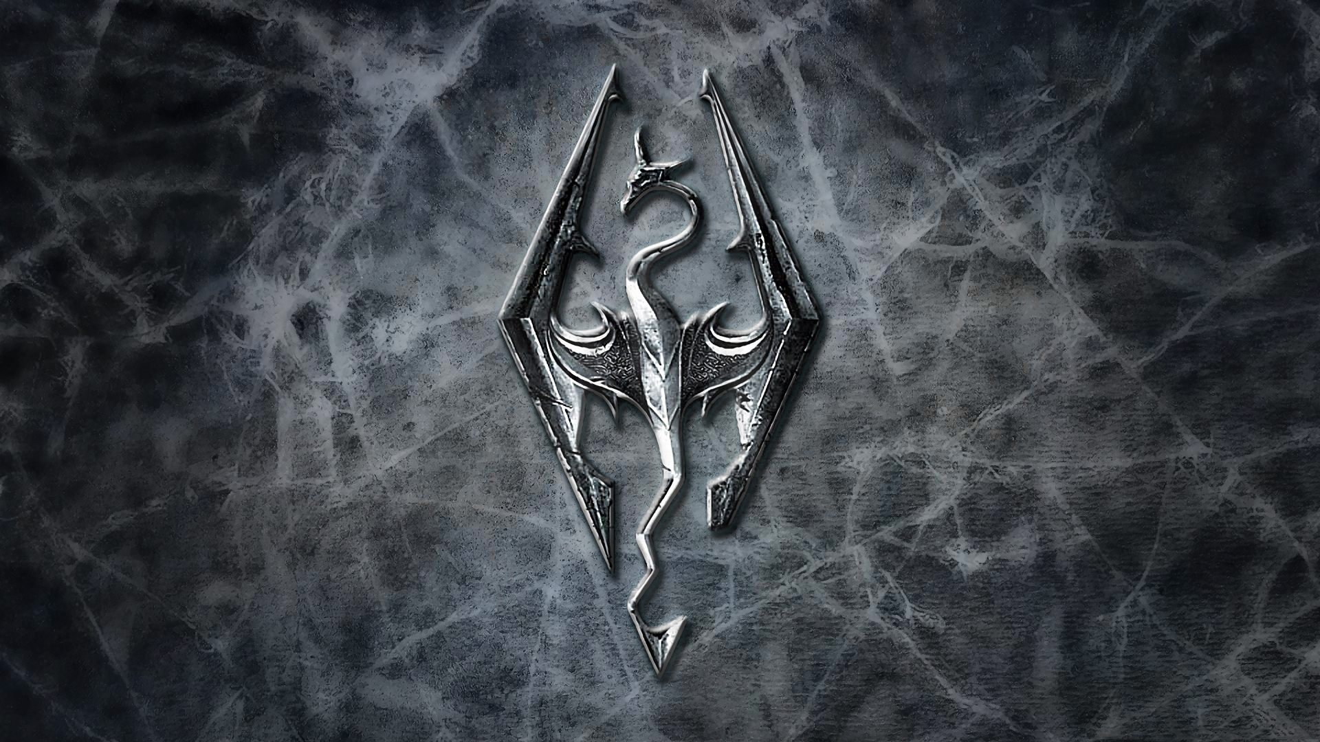 Wallpaper The Elder Scrolls V: Skyrim logo