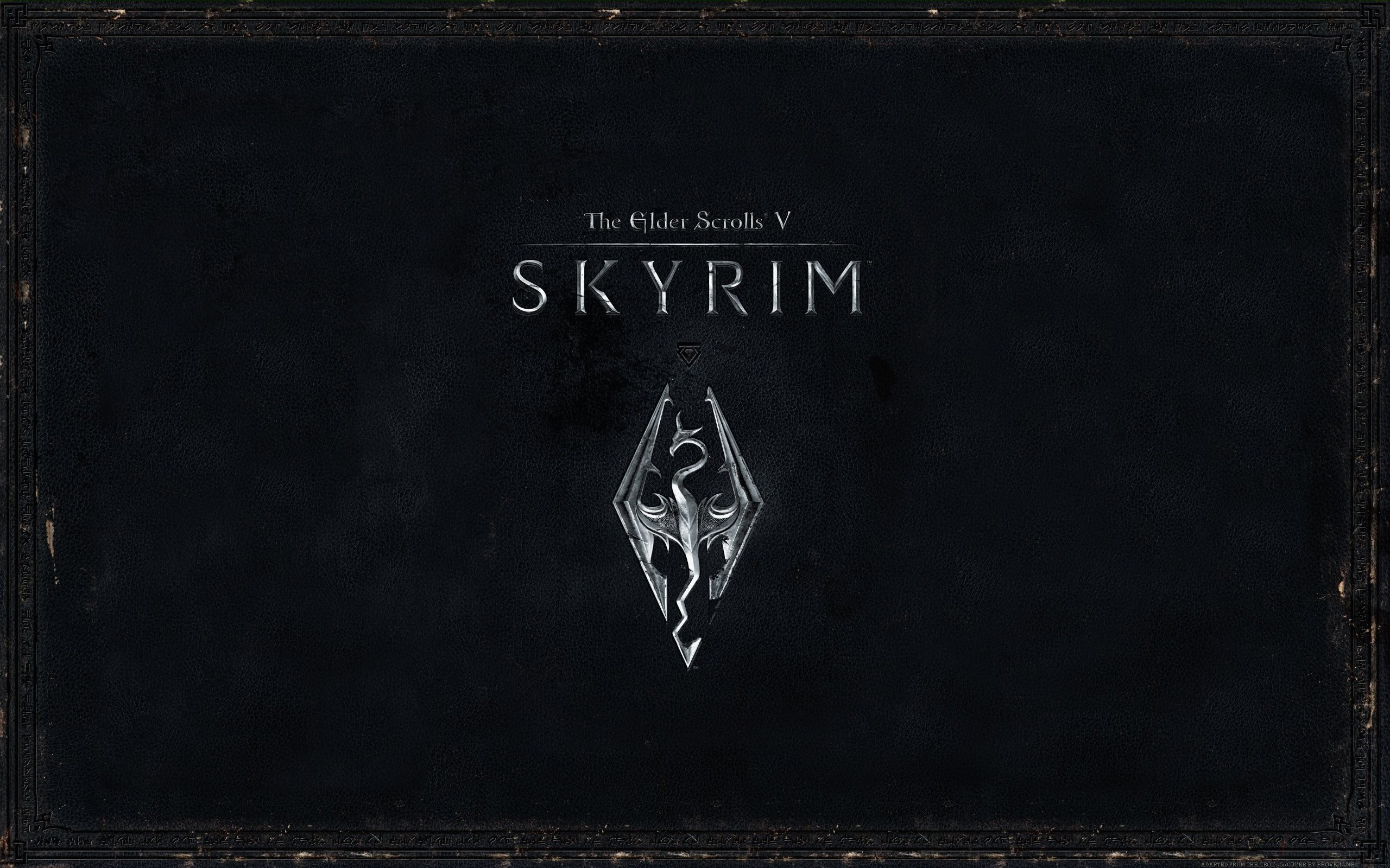 Wallpaper The Elder Scrolls V: Skyrim logotype
