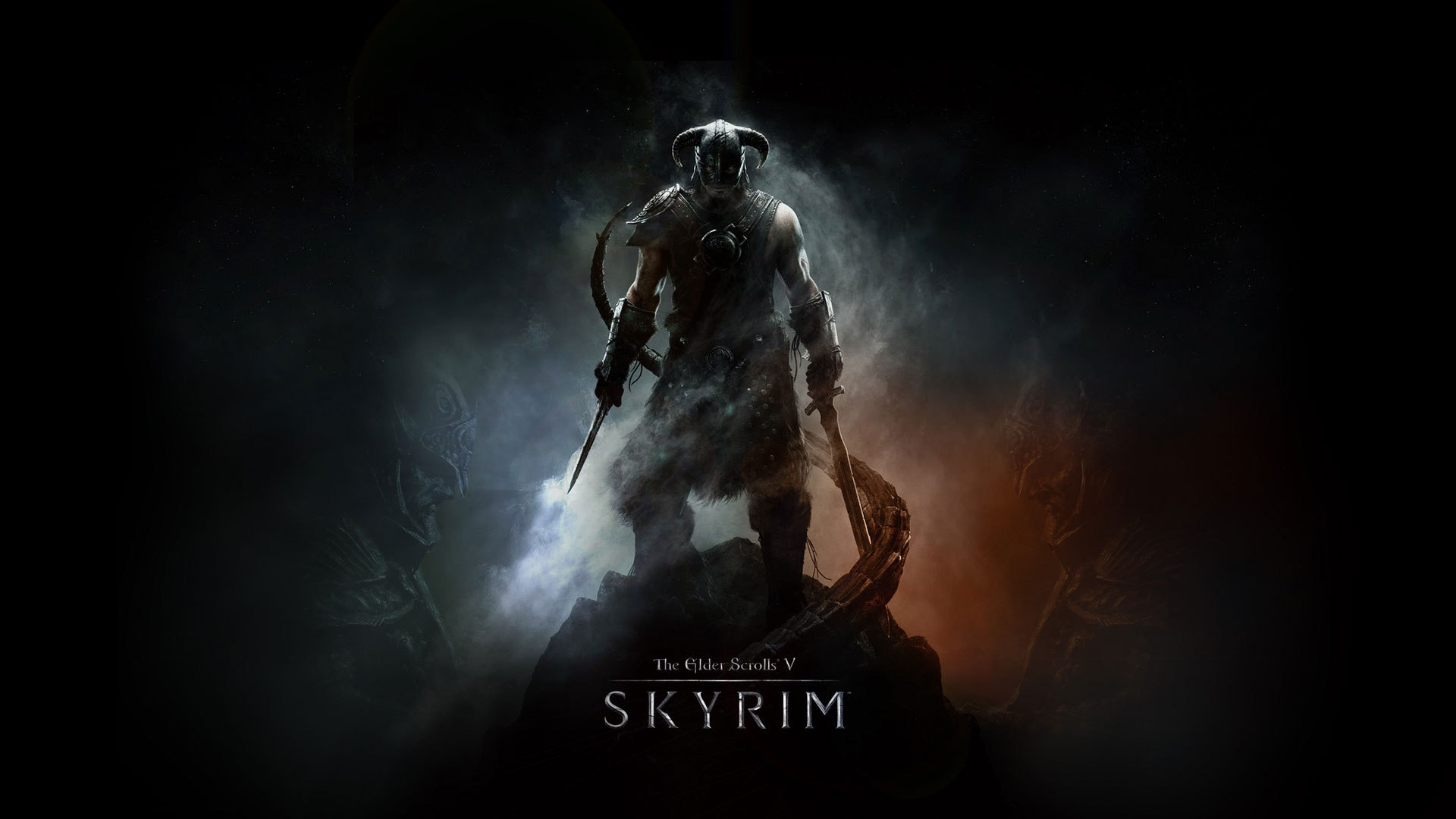 Wallpaper The Elder Scrolls V: Skyrim warrior on top