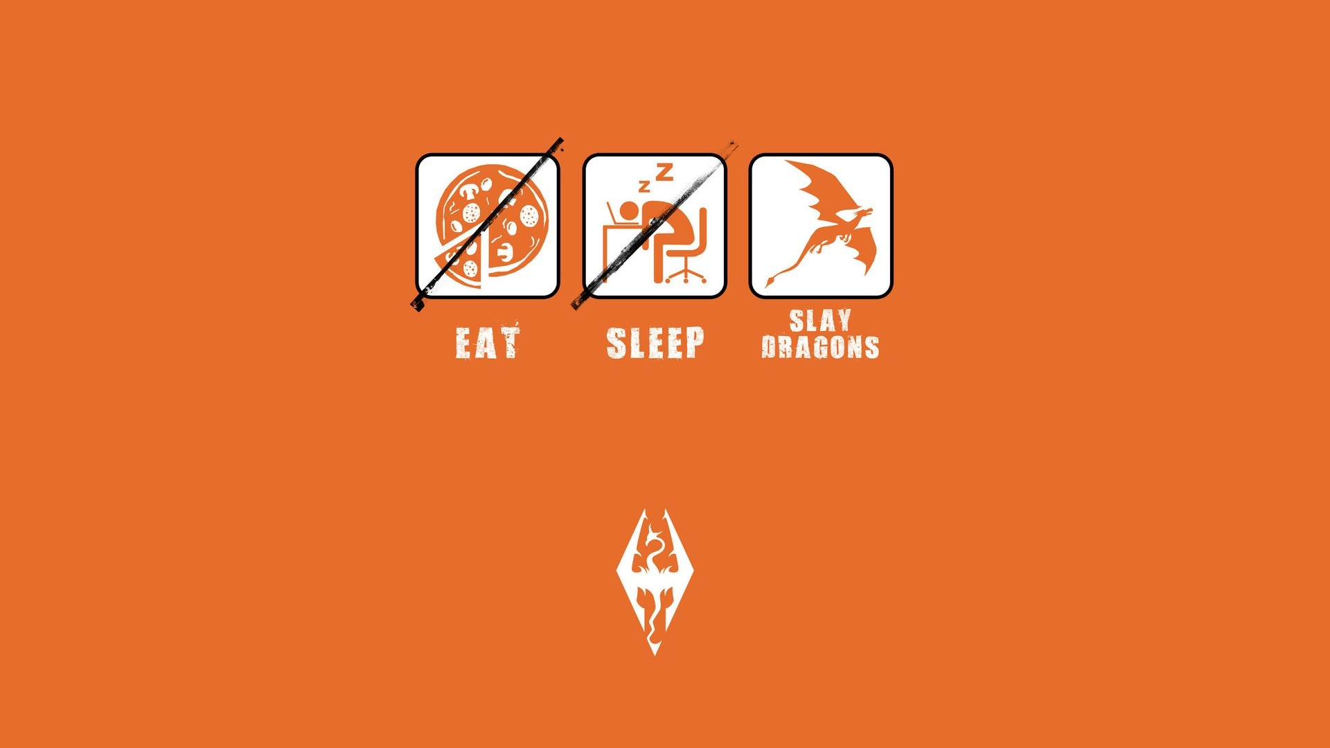 Wallpaper The Elder Scrolls V: Skyrim slay dragons