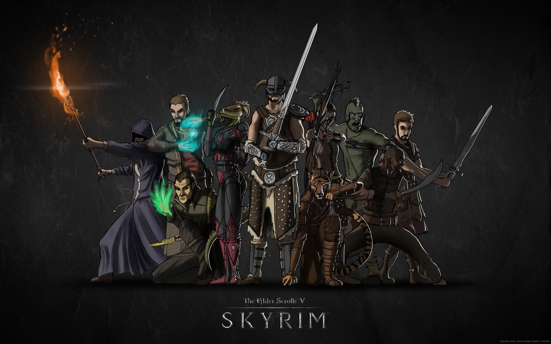 Wallpaper The Elder Scrolls V: Skyrim Team