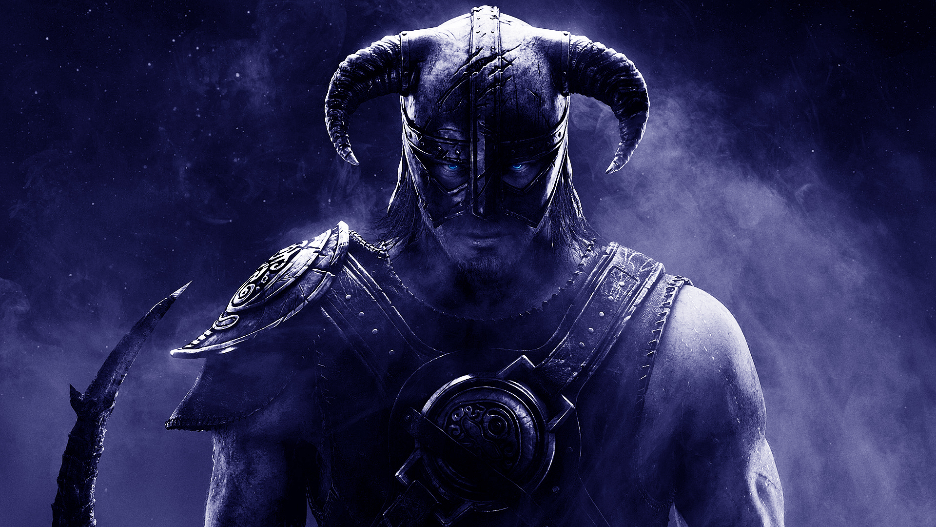Wallpaper The Elder Scrolls V: Skyrim warrior wearing a helmet