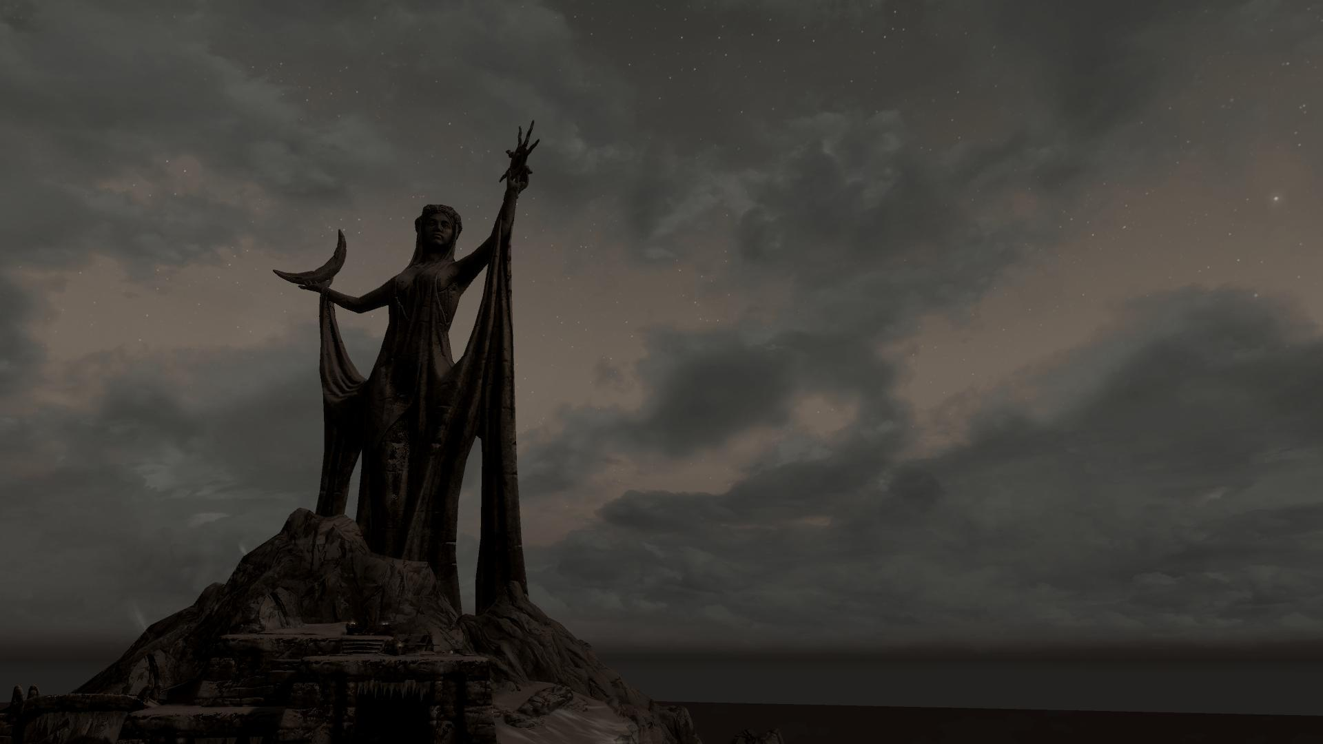 Wallpaper The Elder Scrolls V: Skyrim Statue of Azura