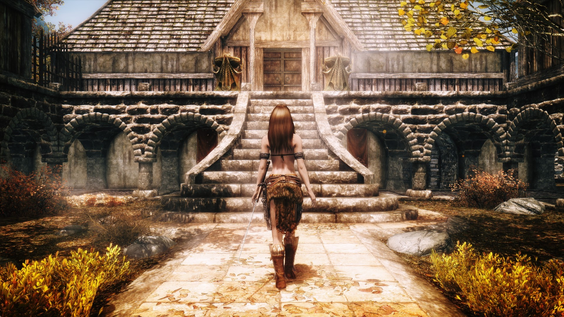 Wallpaper The Elder Scrolls V: Skyrim girl