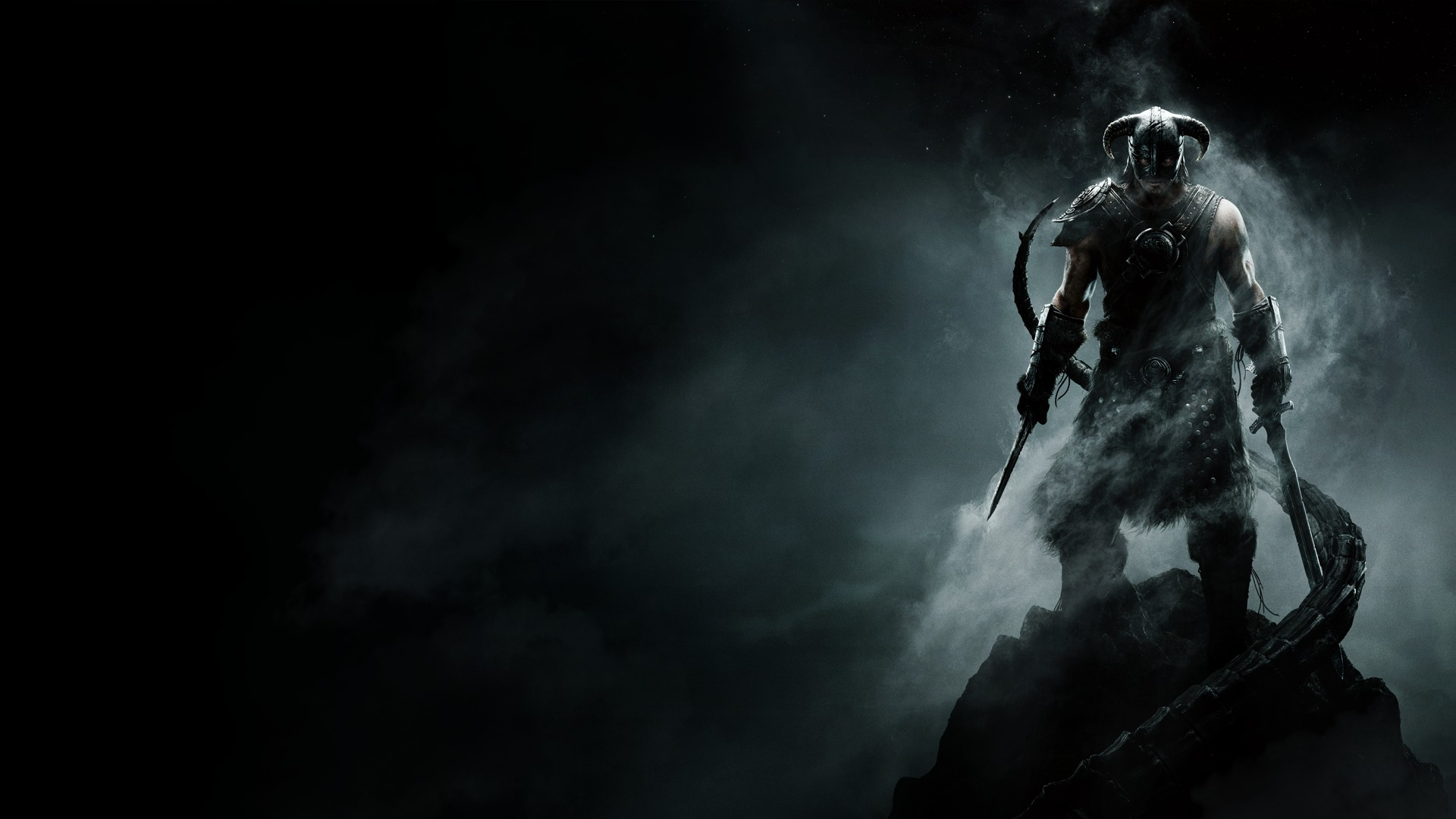 Wallpaper The Elder Scrolls V: Skyrim warrior with sword