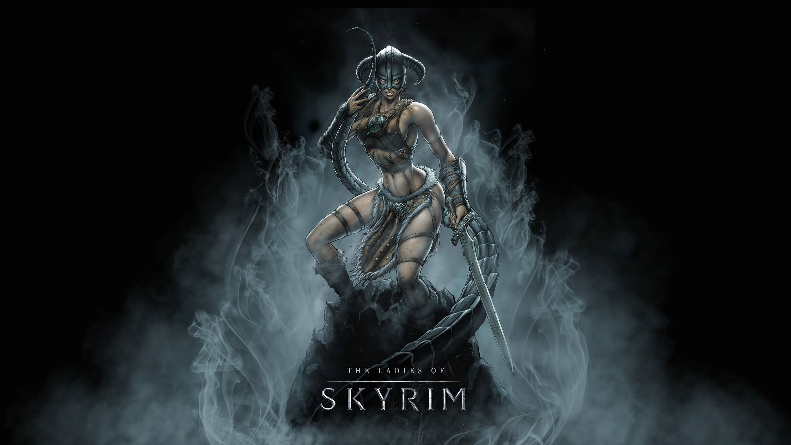Wallpaper The Elder Scrolls V: Skyrim girl warrior