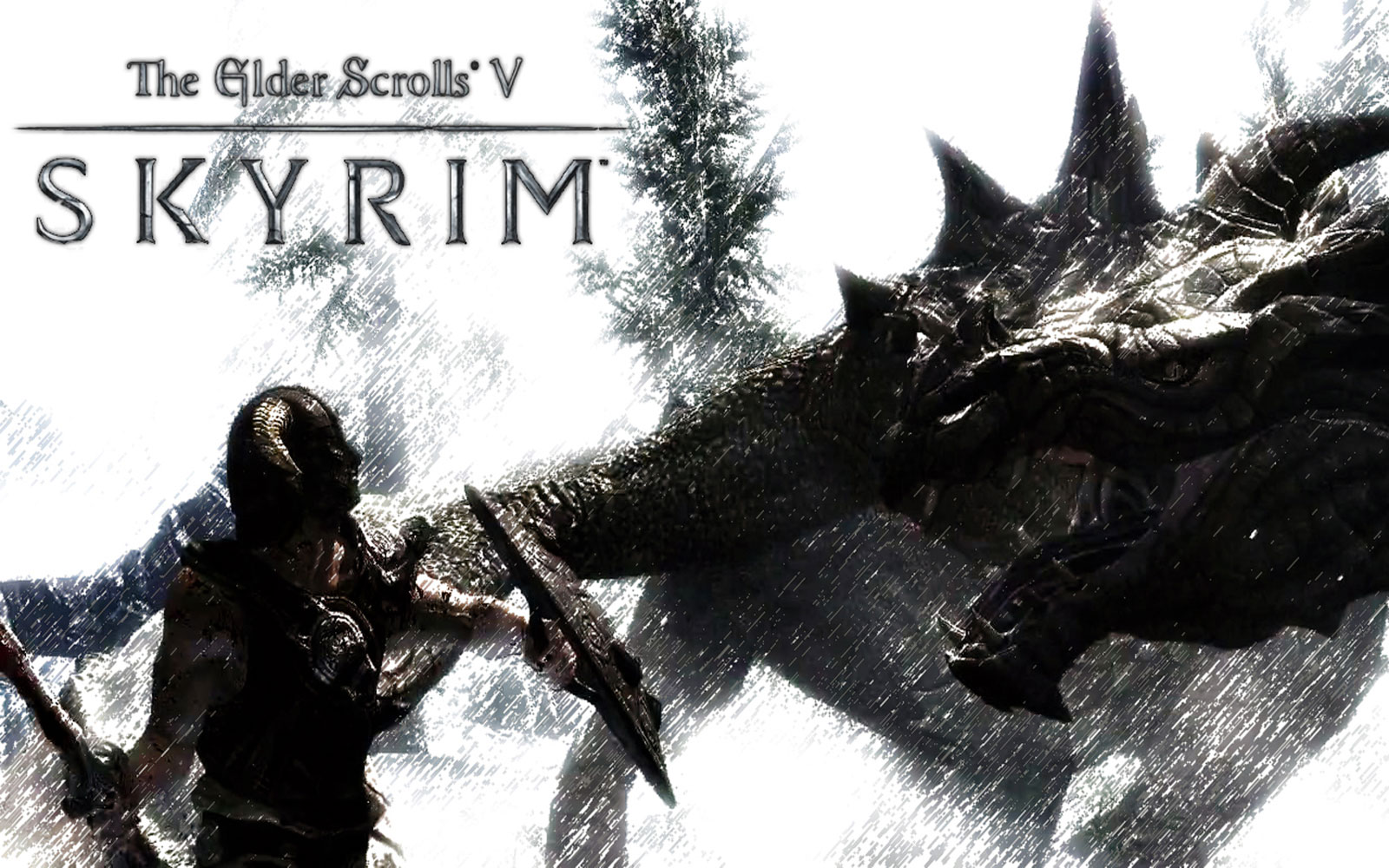 Wallpaper The Elder Scrolls V: Skyrim fight