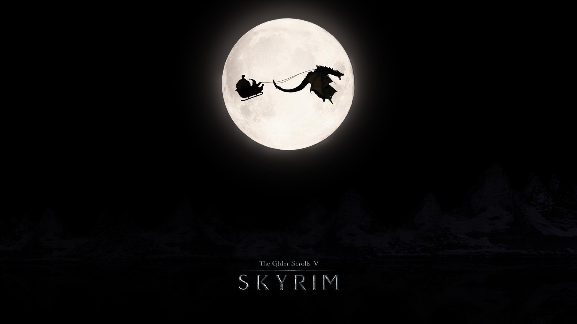 Wallpaper The Elder Scrolls V: Skyrim Moon