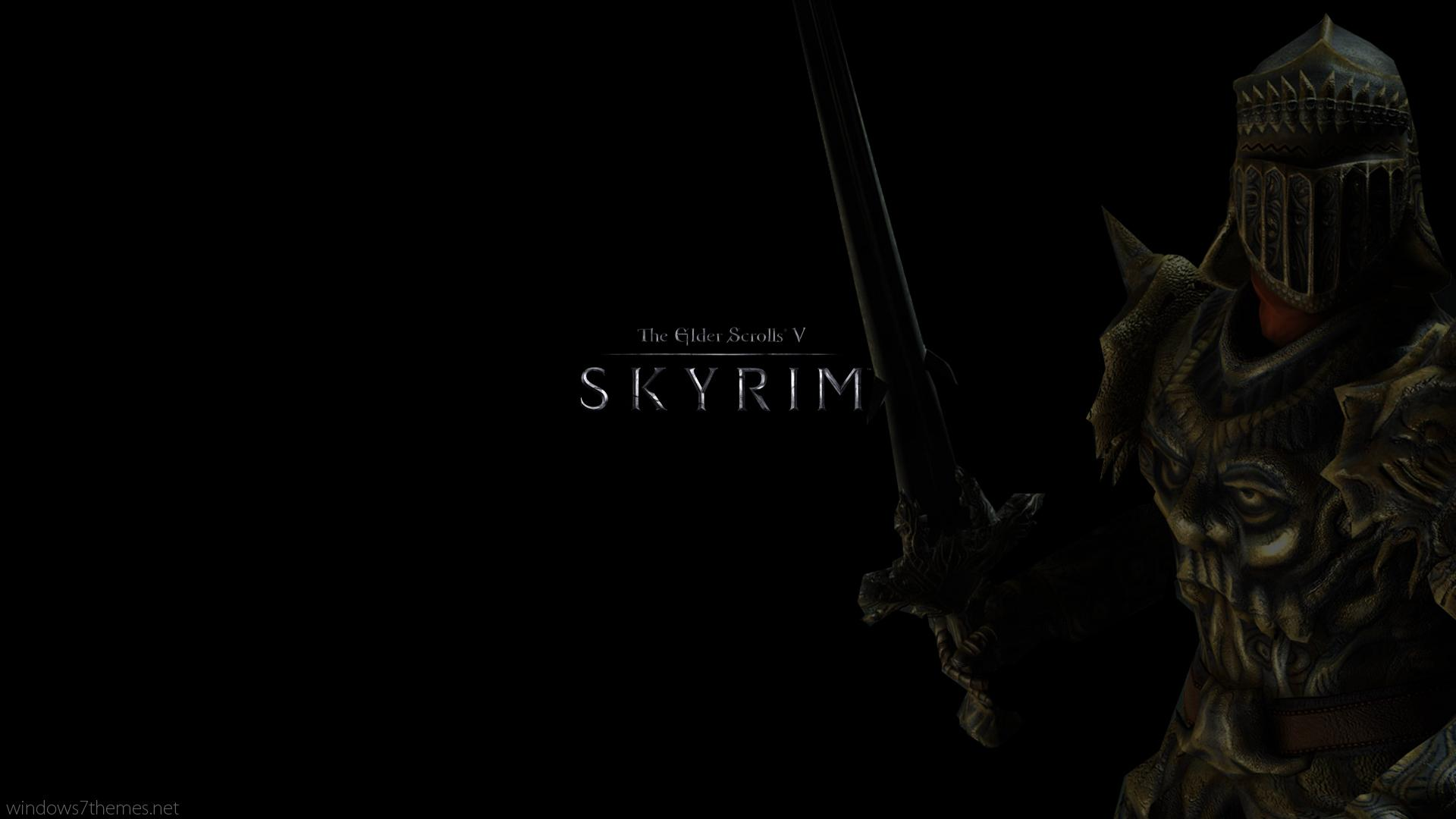 Wallpaper The Elder Scrolls V: Skyrim Black