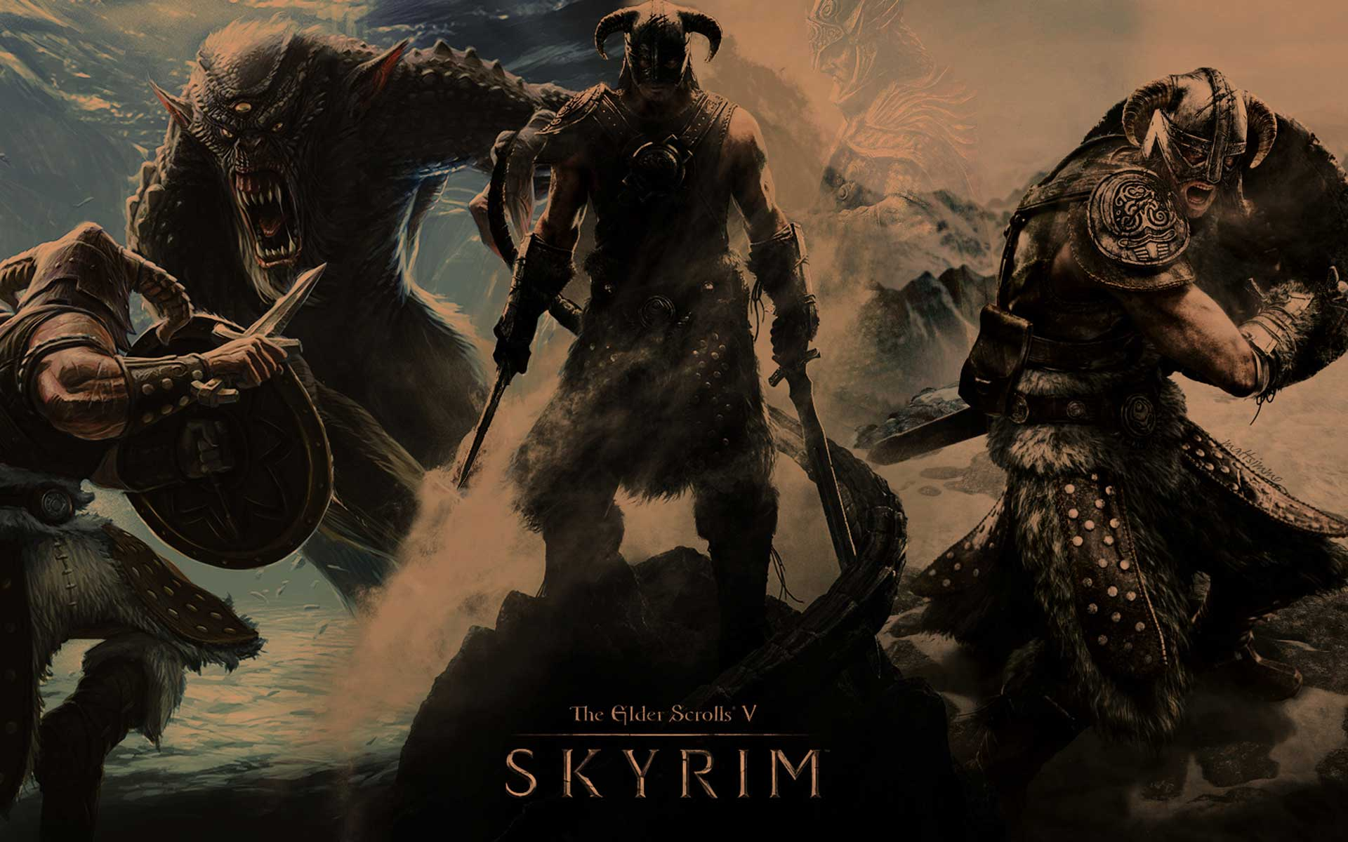 Wallpaper The Elder Scrolls V: Skyrim Dark