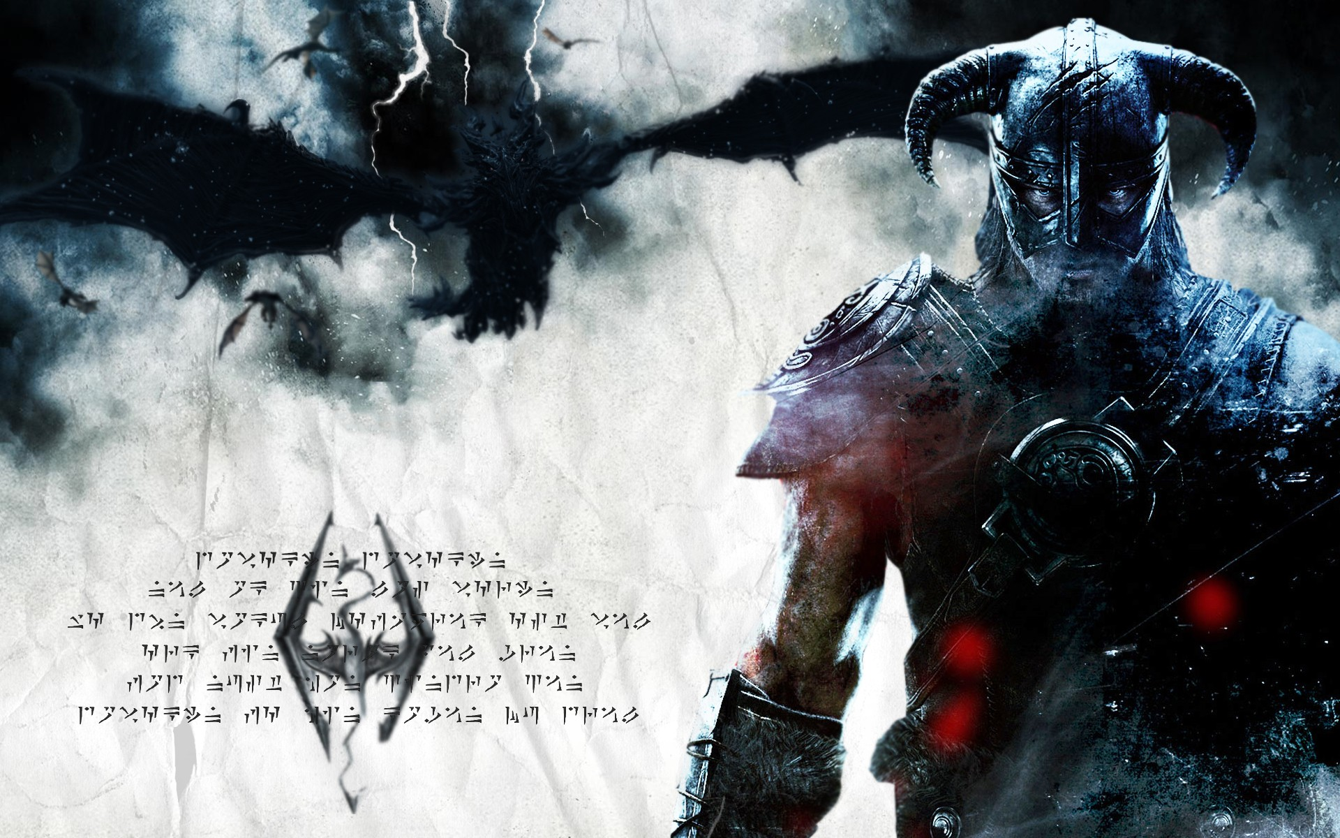 Wallpaper The Elder Scrolls V: Skyrim Runes