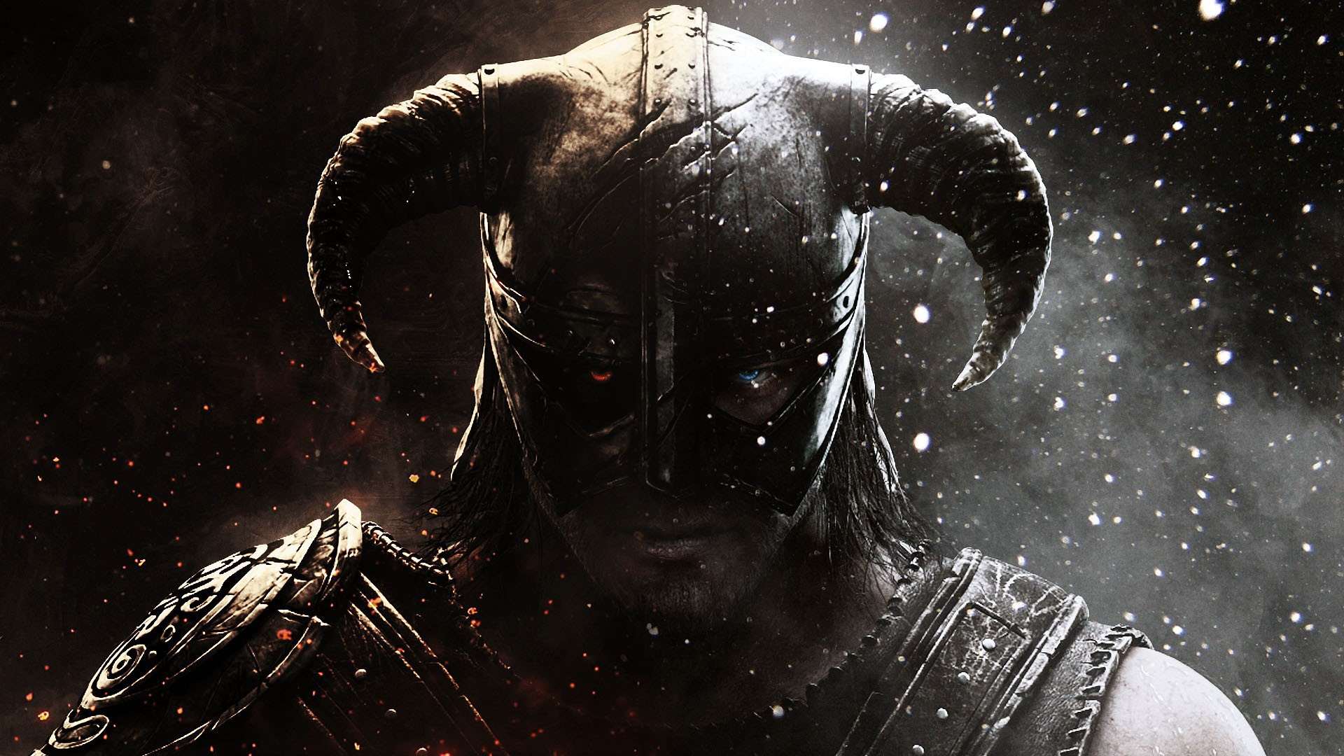 Wallpaper The Elder Scrolls V: Skyrim Helmet with horns